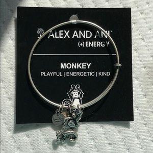 NWT Alex and Ani monkey bracelet